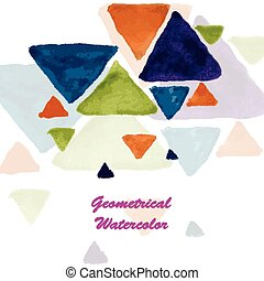 Tech geometric watercolor background