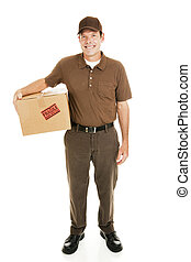 Delivery Man Full Body - Full body isolated view of a...