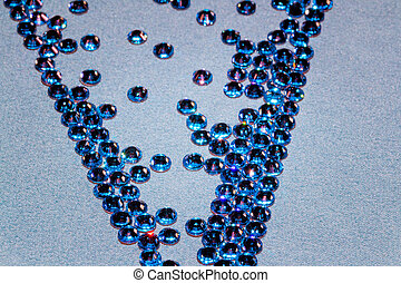 rhinestones - the background of a large number of crystals...