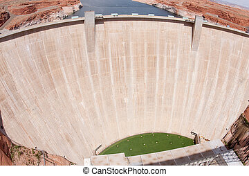 Glen Canyon Dam near Page, Arizona. - The Glen Canyon Dam is...