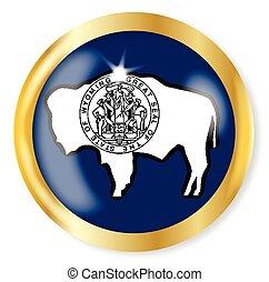 Wyoming Flag Button