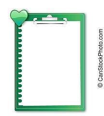 Clip board - Green Clip board