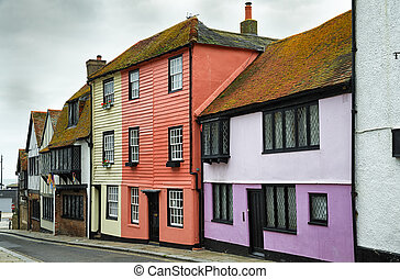 Street in the old town, Hastings - A street in the old town...