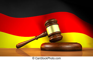 German Law And Justice Concept