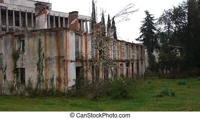 Abandoned Building in Garden 3 - Abandoned Building in...