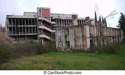 Abandoned Building in Garden 2 - Abandoned Building in...