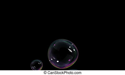 Beautiful Air Bubbles rising on black background HD 1080
