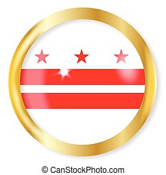 Washington DC Flag Button - Washington DC state flag button...