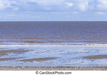 Offshore wind farm Spurn Point UK - Renewable energy,...