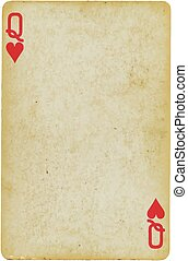 playing card - Background, object: Playing Card: Queen of...