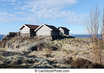 three old boat house - Three old boat House on the westcoast...