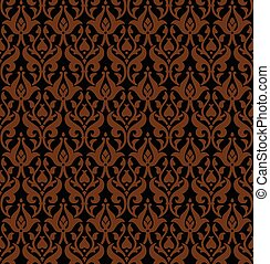 Seamless gothic vector pattern - Gothic ornament Seamless...