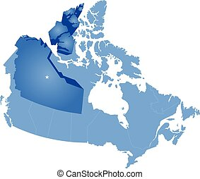 Map of Canada - Northwest Territory - Map of Canada where...