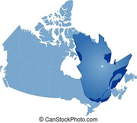 Map of Canada - Quebec province - Map of Canada where Quebec...
