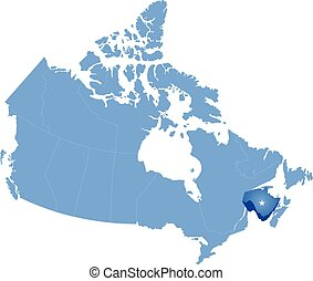 Map of Canada - New Brunswick province - Map of Canada where...