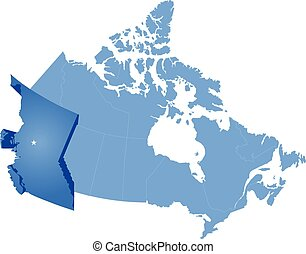 Map of Canada - British Columbia province - Map of Canada...