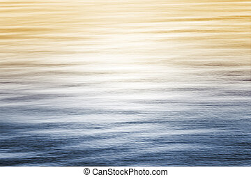 Ocean Reflections with Gradient - Sun reflecting off of the...