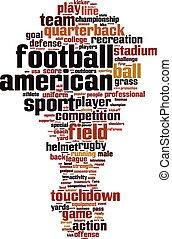 American football word cloud