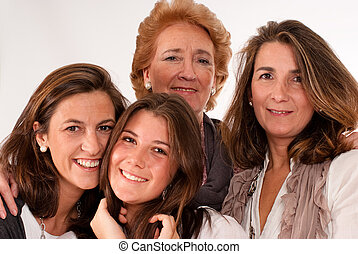 Beautiful women ages - Isolated image of four women of...