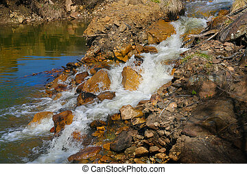 stream with current water