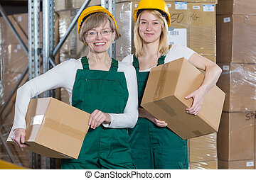 Female storage workers