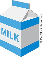 milk packet isolated on a white background Vector...