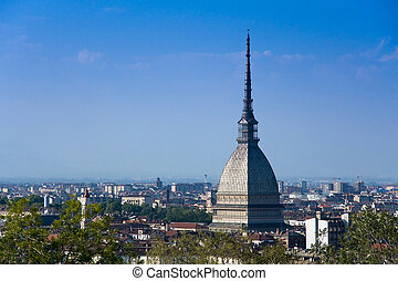 Torino Mole Antonelliana - Lanscape of Turin whit its simbol...