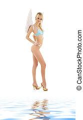 blue lingerie angel