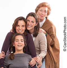 Life stages - Isolated image of for women of different...
