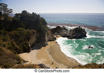 Julia Pfeiffer Burns State Park, near Big Sur in California,...