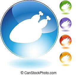 turkey crystal icon