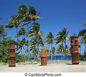 memorial of Christopher Columbus\'s landing, Bahia de Bariay, Holguin Province, Cuba