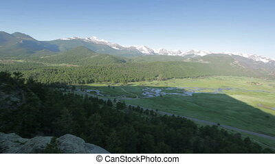 Moraine Park, Rocky Mountain National Park - aerial view on...