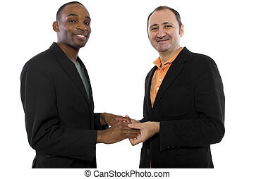 Gay Marriage - young black male and older Russian male...