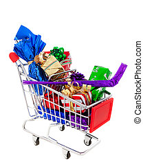 Shopping Cart Full of Presents