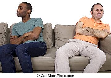 Gay Couple Problems - Interracial gay couple going through...