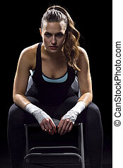 young female MMA Fighter