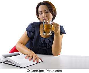 Stressed Out Student - young asian female is stressed out...