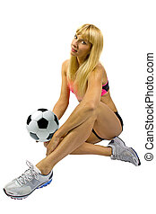Blonde Soccer Player
