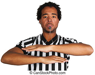 Referee - young black man wearing a referee uniform