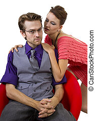 Reconciling Couple - young couple solving relationship...