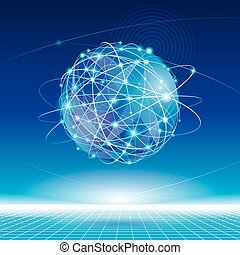 Global Network - Global network connection abstract...