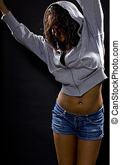 Latina Hip Hop Dancer - Latina hip hop dancer wearing a...