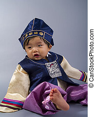 Korean Male Hanbok - Korean baby wearing a traditional...