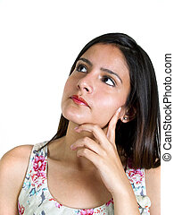 Thinking Woman - photo of a woman thinking or pondering
