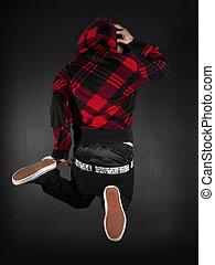 Hip Hop Series male - hip hop dancer on a black background