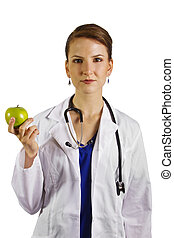 Nutritionist - young female doctor/nutritionist/dietician