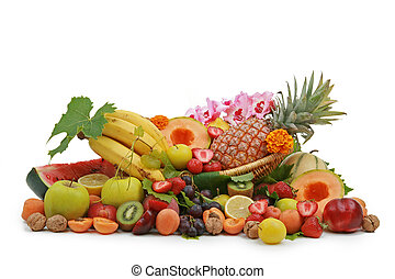 composition of fruits - composition of a lot of fruits on...