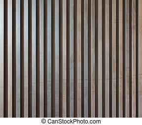 Wood lath wall