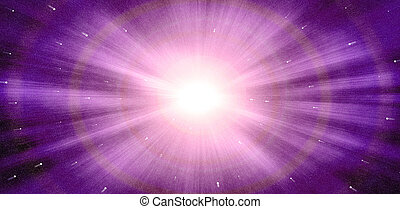 Abstract zoom effect of star light background
